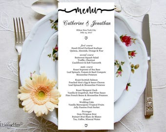 wedding menu, menu printable, dinner menu, menu template, menu dinner card, wedding menu, kraft menu,editable template, instant download 013