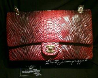 CC Python & Gold Handbag