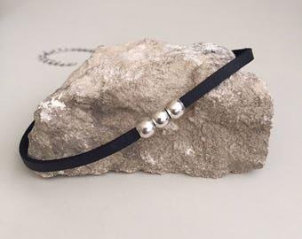 Black choker Leather choker Choker necklace Beaded choker 90's choker Fashion jewelry