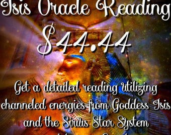 Isis Oracle Reading(Please include your full name and email in the notes)
