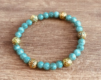 India: turquoise blues w/gold accents