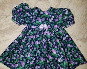 Dress and Pantaloons for 11 inch, 12 inch and 13 inch baby doll / Corolle baby doll