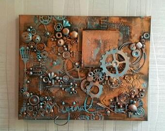 Decorative photo canvas: Original Steampunk
