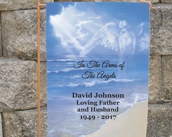 Personalized Memorial Garden Flag In The Arms of The Angels Memorial Cemetery Flag