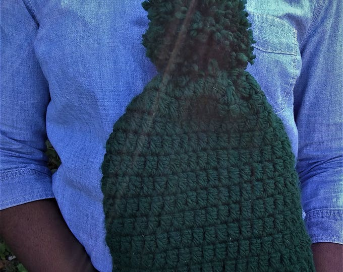 Forrest Green Chunky Crochet Unisex Beanie Hat (CHOOSE YOUR COLORS)