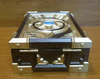 Custom Wooden HS Box Replica Blizzard Hearthstone Card Game Warcraft Personalized Birthday Gift Jewelry Box Storage Casket