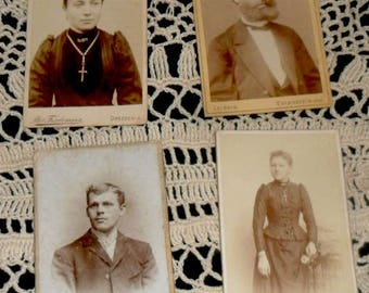 SUNDAY SALE****Victorian CDV Photos~Antique German Photos~Religious Ladies with Crosses~Gentleman~Victorian Fashion~German Antique Photos~