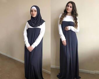 Polka dot Maxi Dress Plus Size, Prayer dress, Farasha Caftan, Boho dress,Muslim dress, abaya Dress,Modern hijab, Burqa