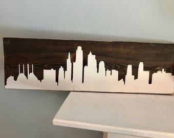 Kansas City Skyline Sign | Skyline Sign | Kansas City | Las Vegas Skyline | Chicago Skyline | New York City Skyline