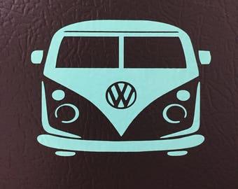 VW Bus, Cool Bus decal, Hippie Bus, Volkswagen Front End, Wagon, Bus, Hippie Van