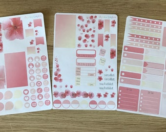 Cherry Blossom Weekly Kit - for use with MAMBI Classic Happy Planner(TM)