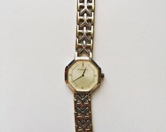 Vintage Yves Saint Laurent women's stainless steel (SS) quartz watch