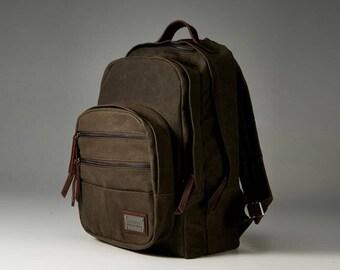 Waxed canvas bag, waxed canvas discovery bag, Vintage waxed canvas bag, waxed canvas backpack, rucksack, waxed canvas travel bag