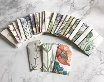 Set of 10 mini envelopes made from vintage books