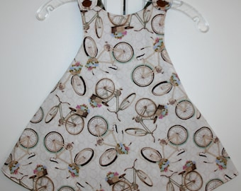 3T, Bicycle Reversible Sundress' with Pineapple Pattern.