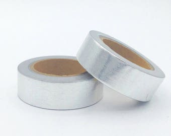 Foil Washi Tape - silver - Christmas gift - packaging - decoration - wedding