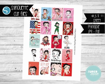 Betty Boop Stickers Etsy