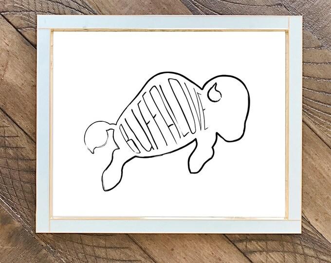 Buffalove /// Art Print