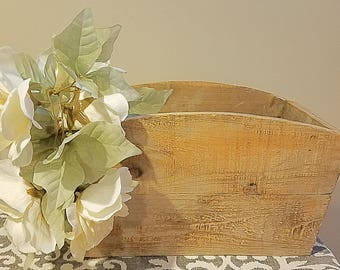 Antique Natural Wood Storage Container