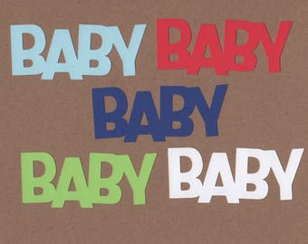 10 - 1.5 inch Tall Baby Die Cuts  Sail Away Colors for Paper Crafts  Set #5560