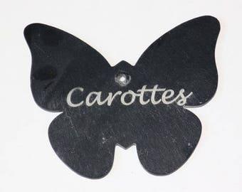 Slate little Butterfly 8 cm x 9 cm