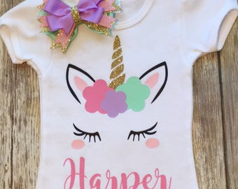 Personalized unicorn shirt