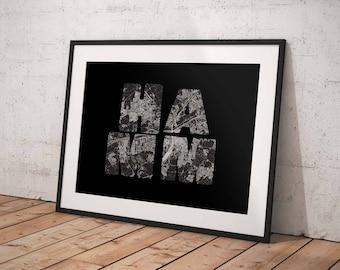 Hamm - A4 / A3 print - MapInBlack