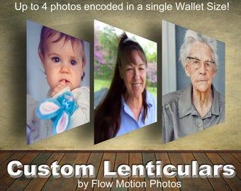 2.5x3.5 inch WALLET SIZE Custom Lenticular