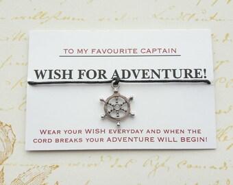 Pirates of the Caribbean, Pirates of the Caribbean Wish Bracelet, Pirates of the Caribbean Jewelry, Pirate, Captain, Friendship Bracelet,