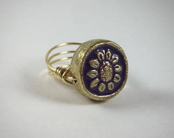 Golden Sunflower Ring