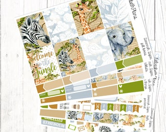 Savannah Safari | Animals, Zoo, Holiday, Planner Stickers, FULL KIT