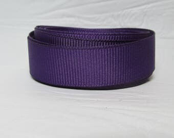 "Grosgrain ribbon 5/8"" Ultra Violet (purple) sold by the yard"