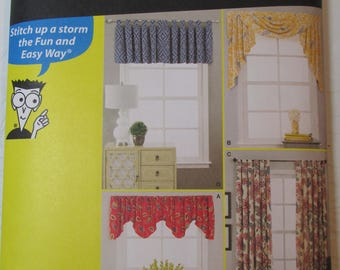 Simplicity Pattern 1152 Sewing for Dummies Curtains and Drapes