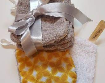 yellow and white washable cotton washable geometric pattern