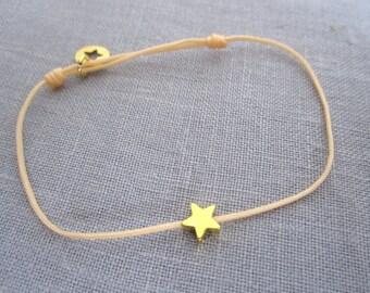 GOLDEN STAR CORD BRACELET