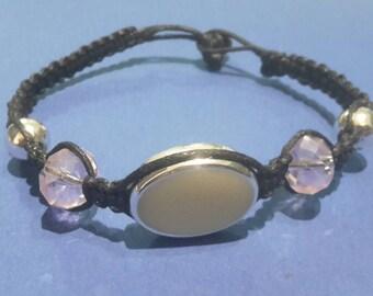 Black braided classy beaded serali braceled!