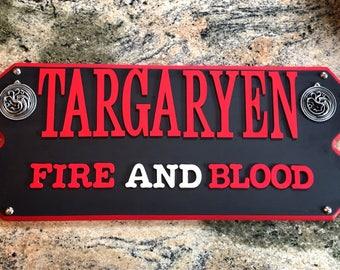 Game Of Thrones House Targaryen Wall Sign