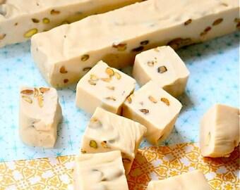 Baileys and Pistachio fudge, Baileys, homemade fudge, handmade fudge, fudge candy, chocolate fudge, sweet gift, fudge gift, Luxury fudge,