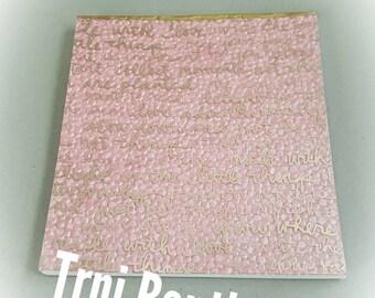 Pink Gold Inspirational Notepad
