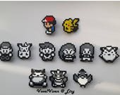 Pokemon Classic Pixel Sprite Keyrings / Keychain / Pin Badges / Phone Charms