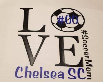 T-shirt - #SoccerMom