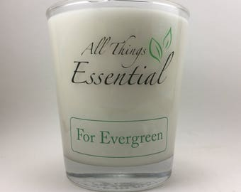 For Evergreen - All Natural Wood Wick Hand Poured Soy Candle