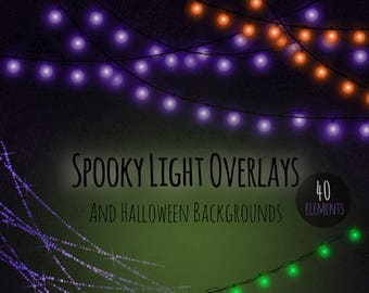 spooky lighting. halloween lights clipart fairy purple strings of spooky lighting