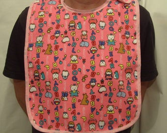 Pink Adjustable Adult Baby Girl Play Bib ABDL DDLG MDLG