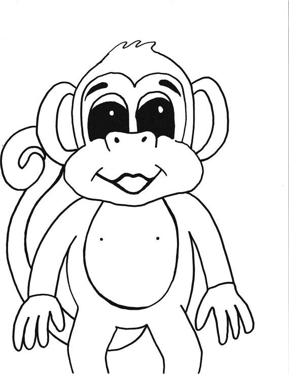 Tolle Druckbare Affen Malvorlagen Bilder - Malvorlagen-Ideen ...