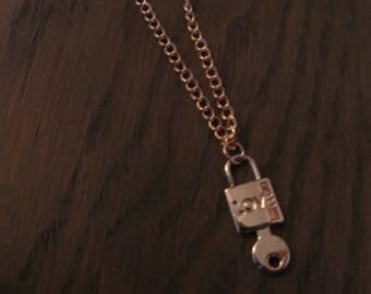 Chain key with Clasp rosé gold