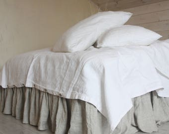 linen duvet cover set with two pillowcases 100 natural flax washed linen bedding california king