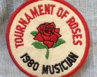 Tournament of Roses patch, large patch, flower patch, vintage rose patch