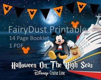 PRINTABLE Disney Cruise Line Halloween On The High Seas Booklet/Journal