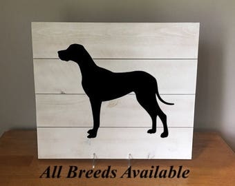 great dane great dane silhouette wood sign great dane art great dane gift - Dane Decor